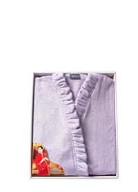 洁丽雅超柔女式紫色浴袍